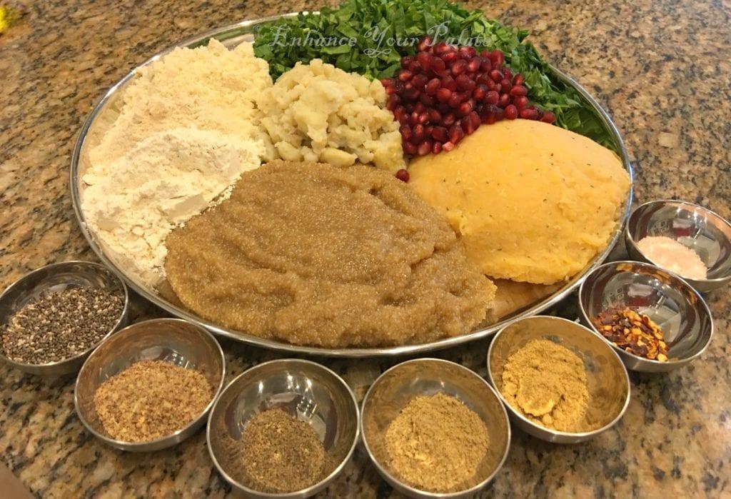 2016-8-21 Amaranth Lentil Patties Ingredients