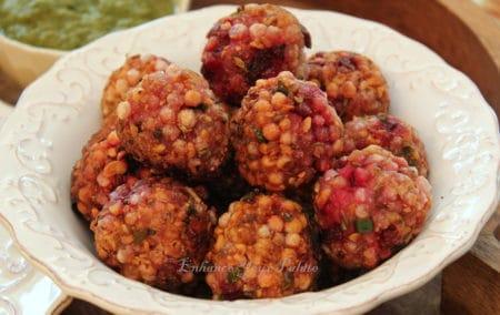 Low Fat Beetroot Tapioca Fritters Sabudana Sago Vada - Enhance Your Palate