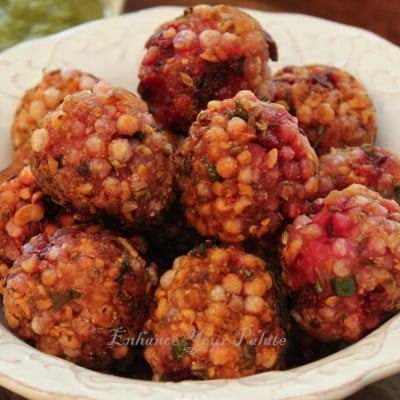 Low Fat Beetroot Tapioca Fritters Sabudana Sago Vada - Enhance Your Palate