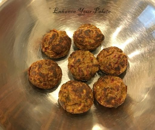Ready to serve lentil fritters