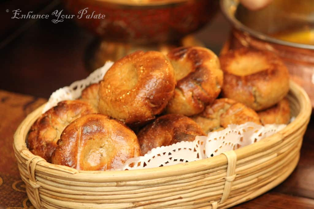 Baati Unleavened Bread Crispy Outside and Soft Inside Bati