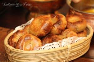 Bati served in a basket