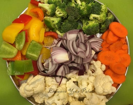 Vegetables added to this recipe