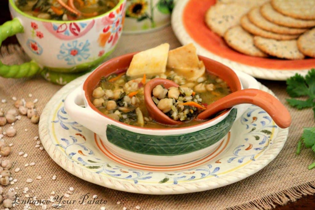 Chickpeas Vegetable Barley Soup