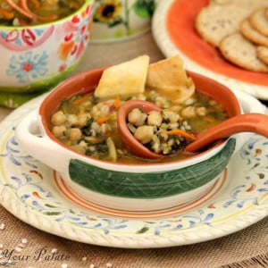 Chickpeas Vegetable Barley Soup Recipe from Enhance Your Palate
