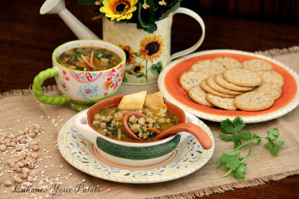 Chickpeas Barley Vegetarian Stew/Soup