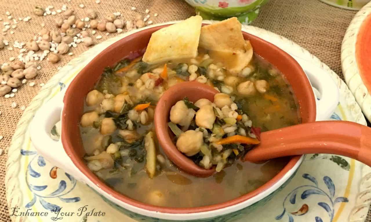 Chickpeas Vegetable Barley Soup