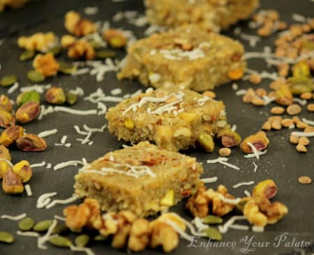 Fennel Flavored Coconut Mixed Nuts Fudge