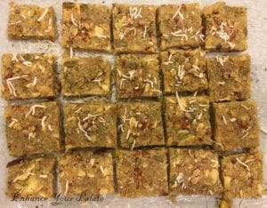 Fennel flavored Coconut Mixed Nut Fudge Indian Sweet/Dessert
