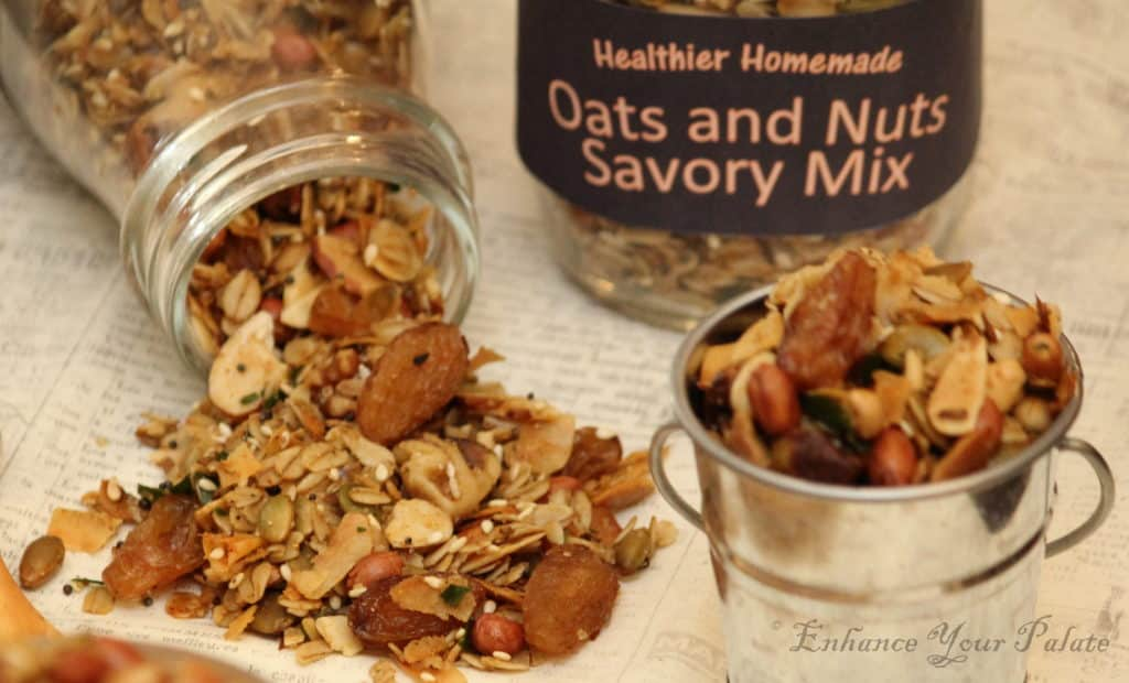 Oven Roasted Oats and Nuts Savory Trail Mix Namkeen