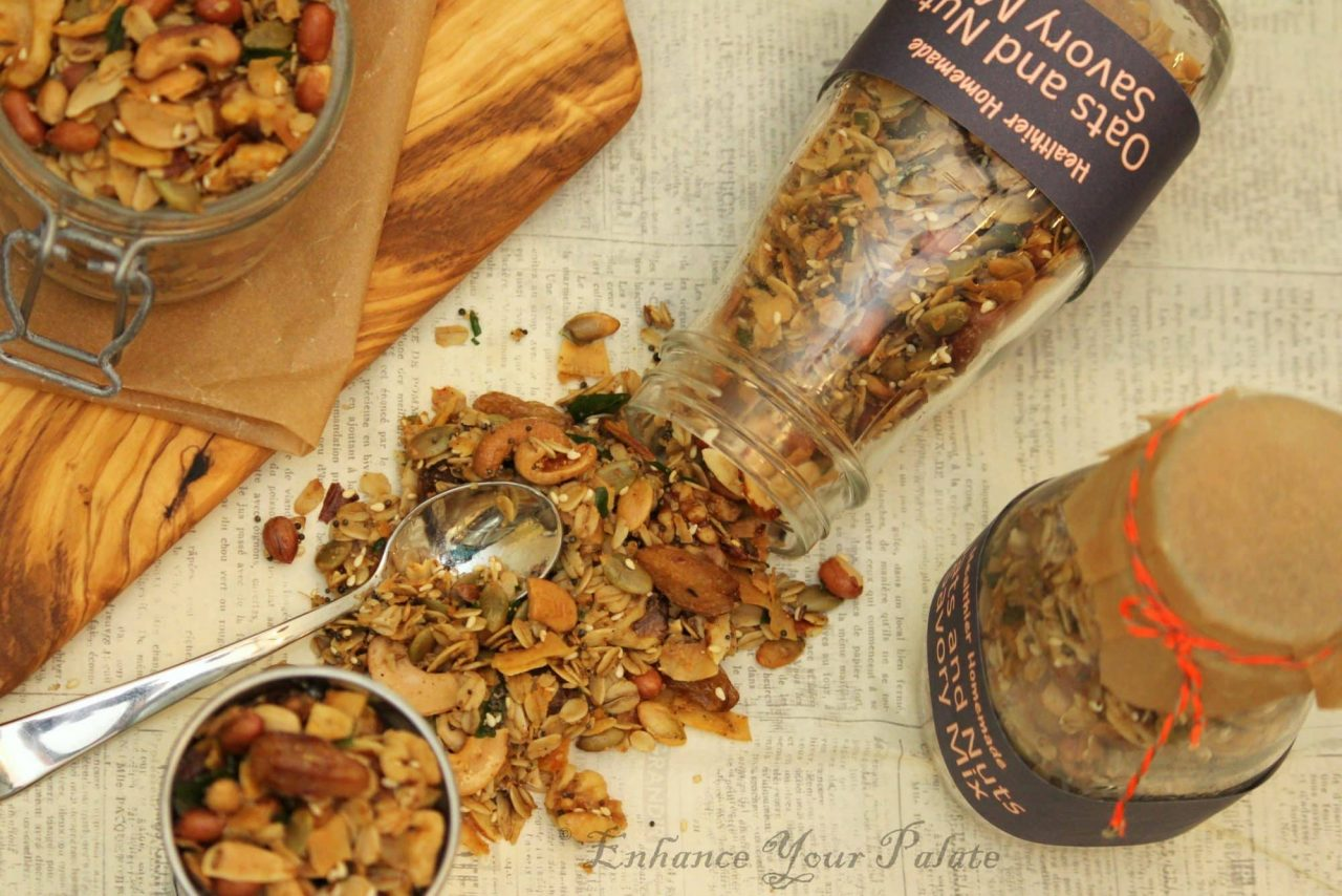 Homemade Trail Mix – Oven Roasted Oats and Nuts