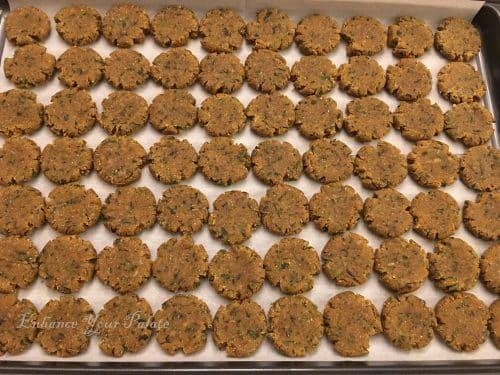 small pressed dough balls to make mathri