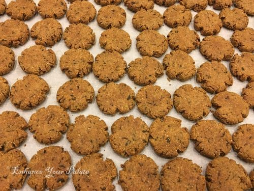 baked methi mathri fresh out of oven