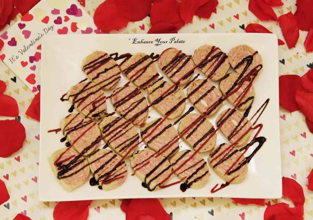 Raspberry Strawberry Cream Cheese Pinwheel Sandwiches
