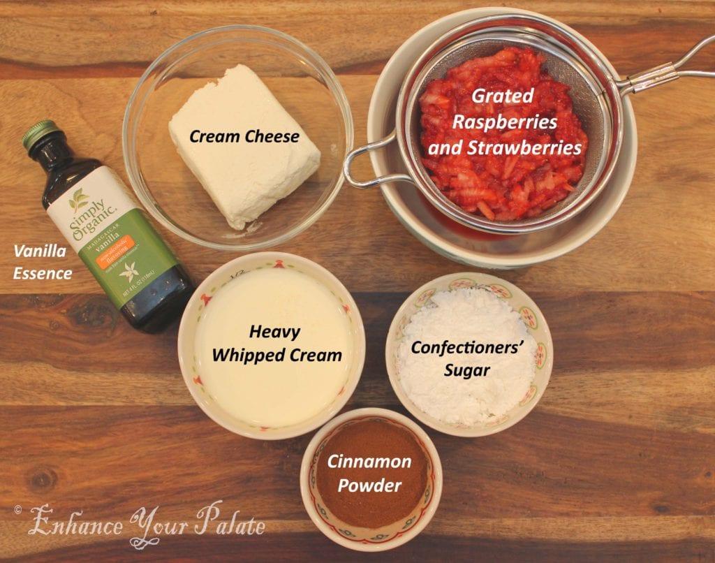 Strawberry Raspberry Cream Cheese Pi-wheel Sandwich