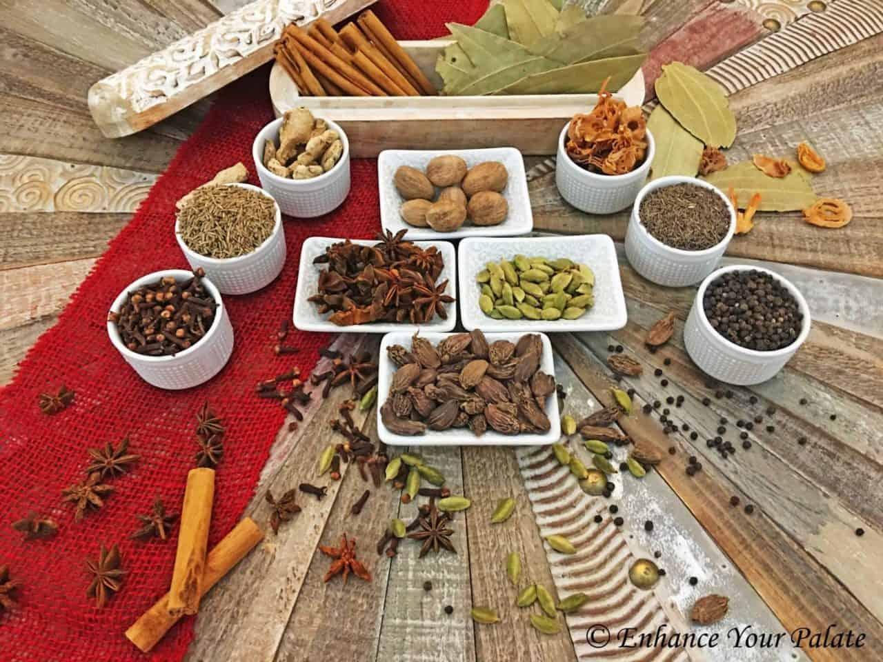 Warm Spices used to make Garam Masala