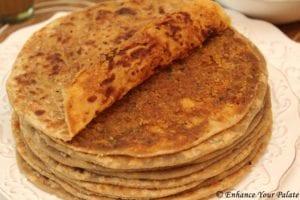 Puran Poli - Flatbread with sweet stuffing