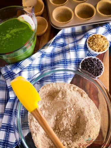 Making baking mix for Spinach Muffins