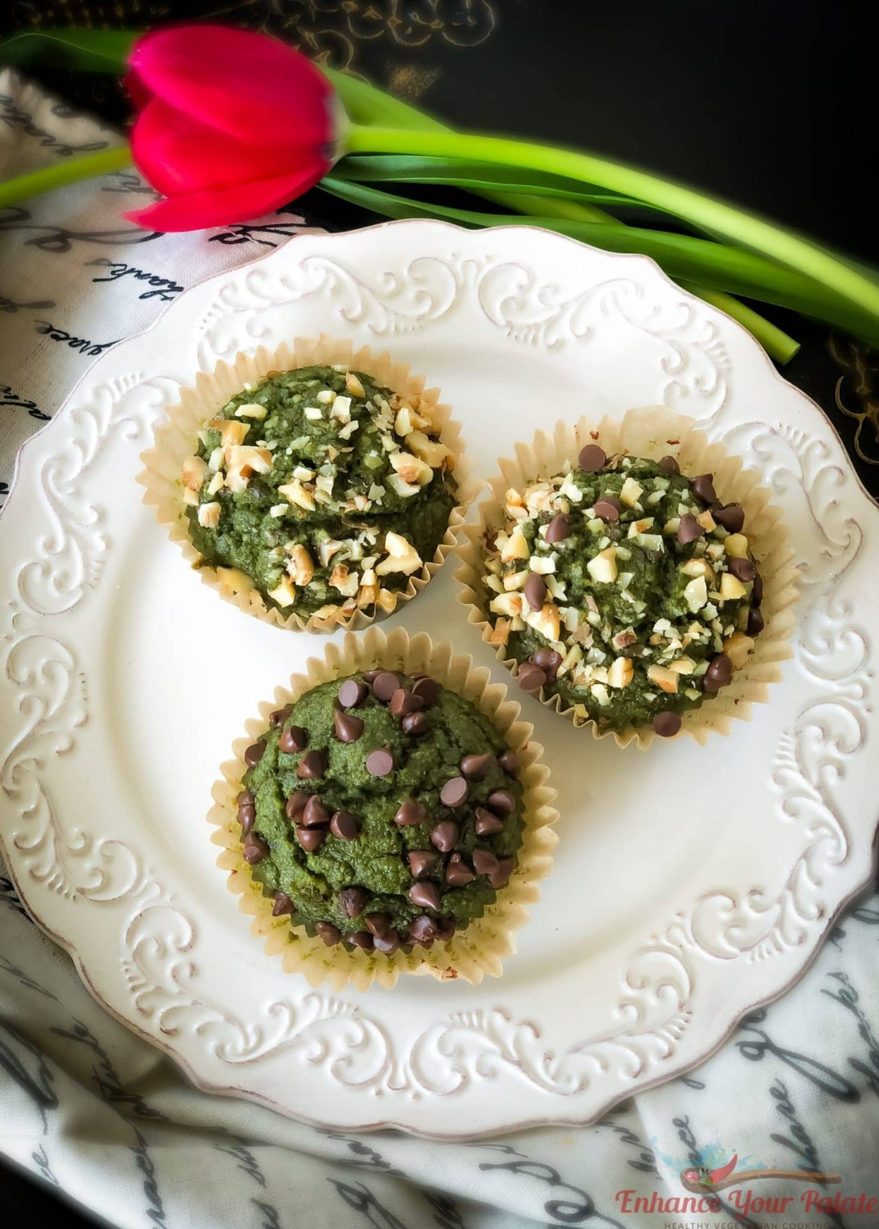 GF Vegan Green Muffins