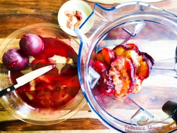 Plum drink seasonal digestive summer healthy kids school