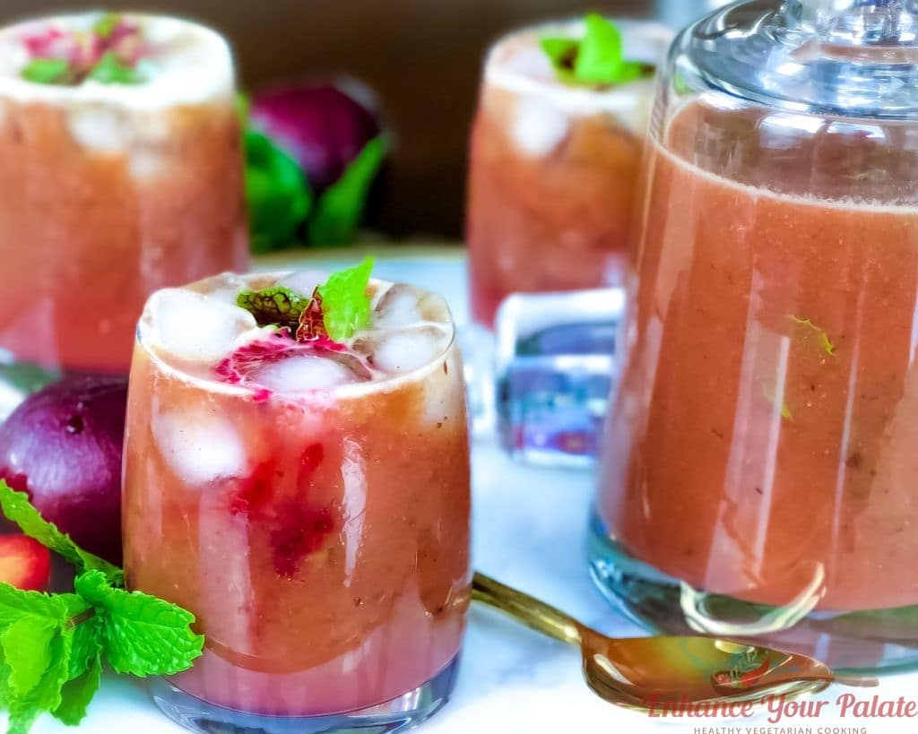 Plum Drink Roasted Digestive Cooler Summer Seasonal