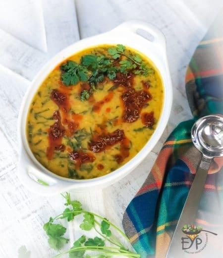 Palak Dal - Spinach Lentil Soup