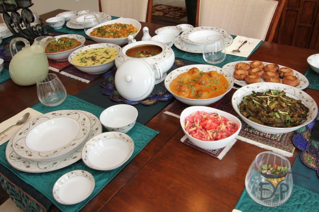 Dal Bati Churma Table setting