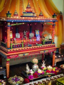 Ethnic Indian Festive Diwali Temple Decoration