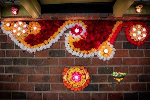 Diwali Home Decor Main Entrance Flower Rangoli