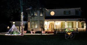 Outside Home Diwali lighting