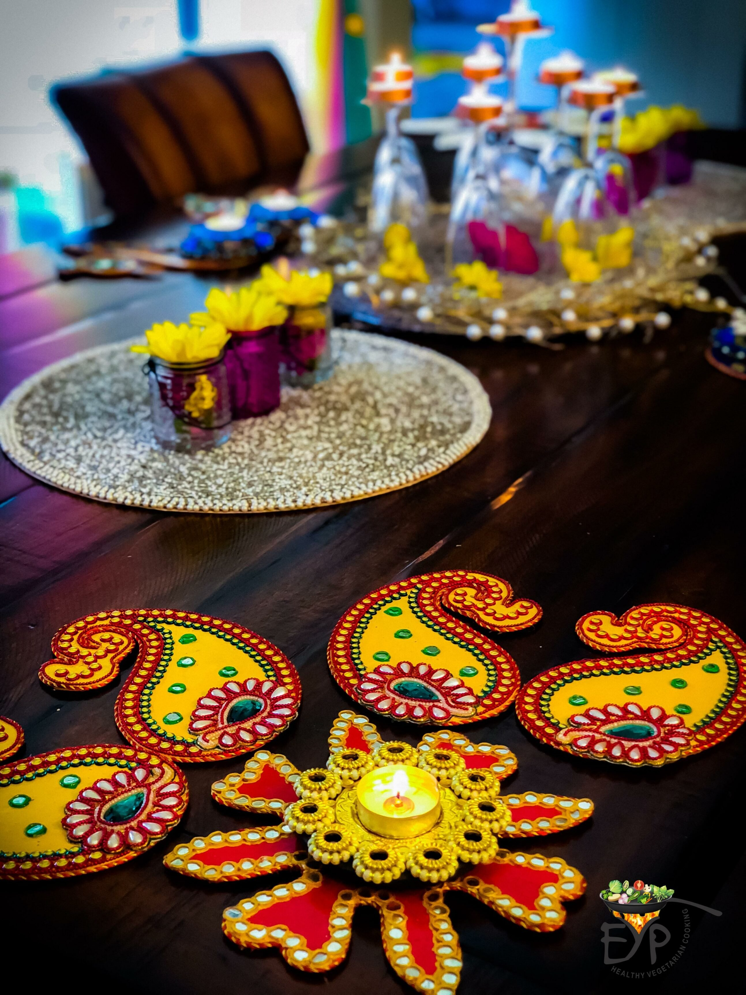 This is how I jazzed-up our Diwali! Ideas for your event that you can use for other ethnic gatherings also.