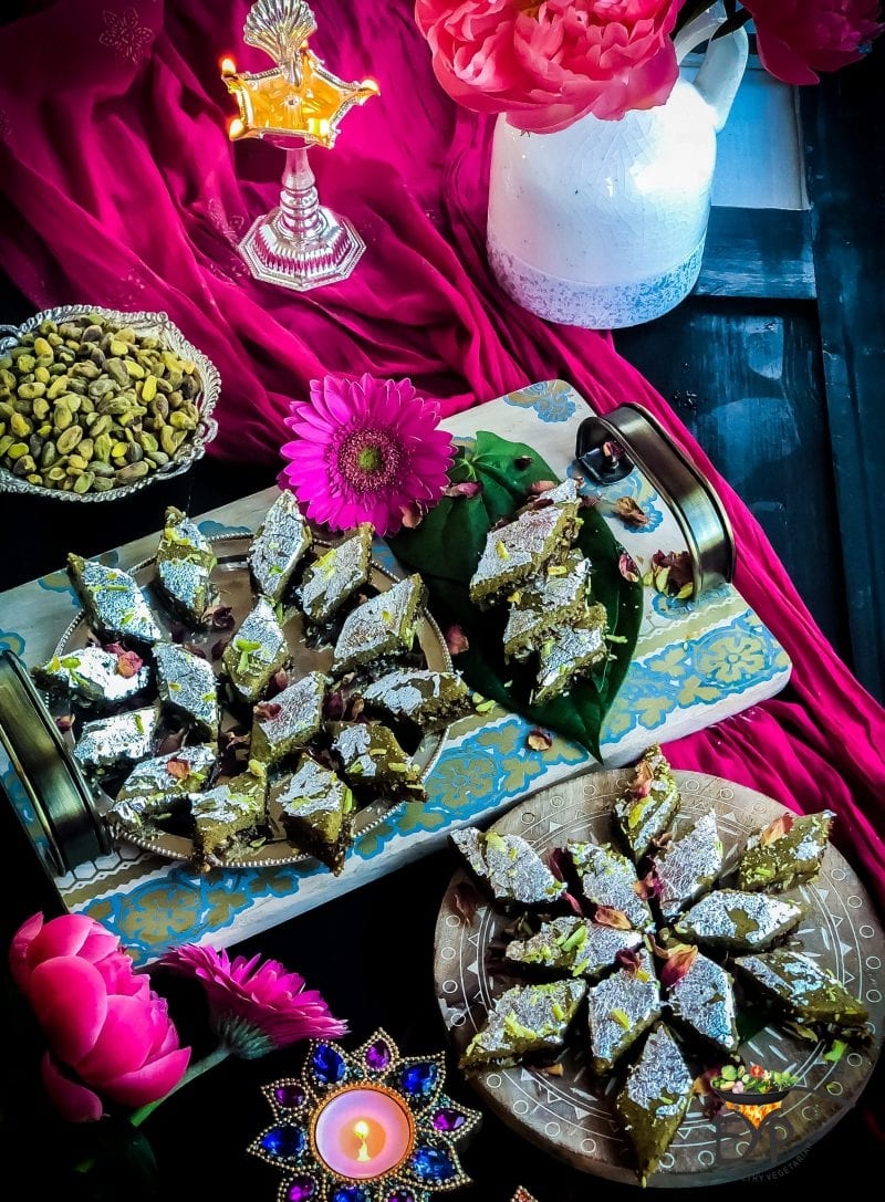 Pistachio Gulkand Barfi Featured 1