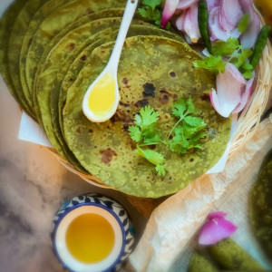Avocado Spinach Chapati