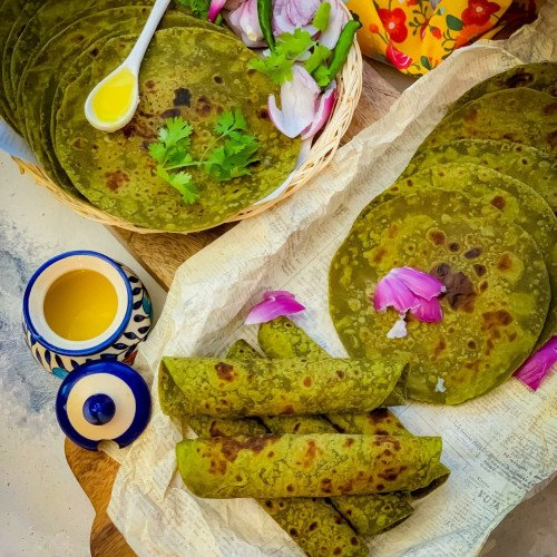Avocado Spinach Chapati