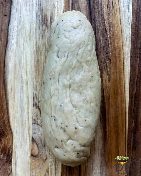 long log of samosa dough