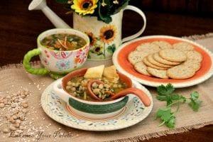 Chickpeas Barley Vegetarian Soup
