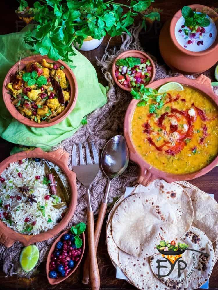 Classic Dal Tadka Aloo Gobi menu