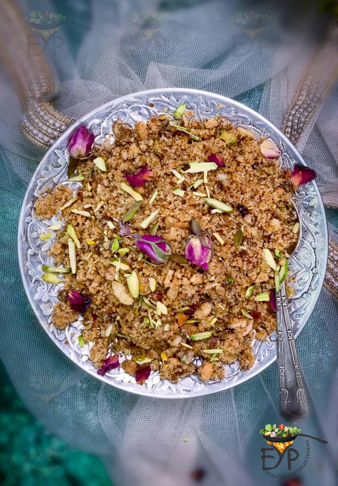 Churma made from baked bati