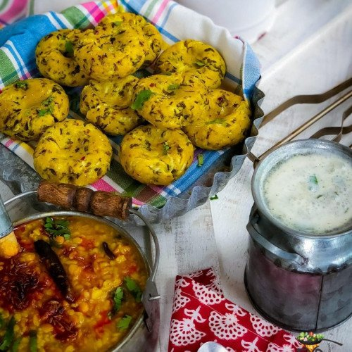 Cornmeal Dumplings – Makka ke Dhokle from Enhance Your Palate