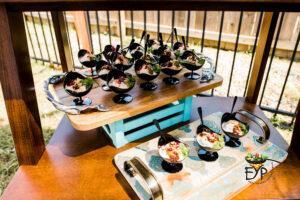 Dahi-vade served on decorative trays