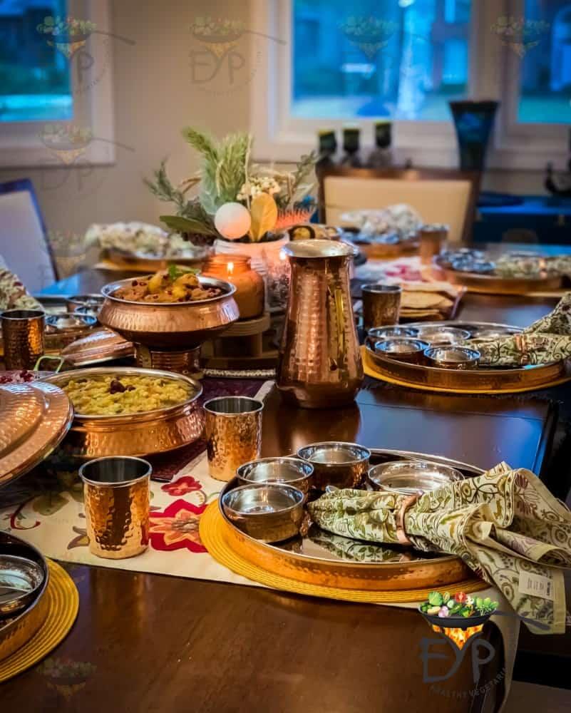 Thanksgiving Table Decor - Indian Dinner