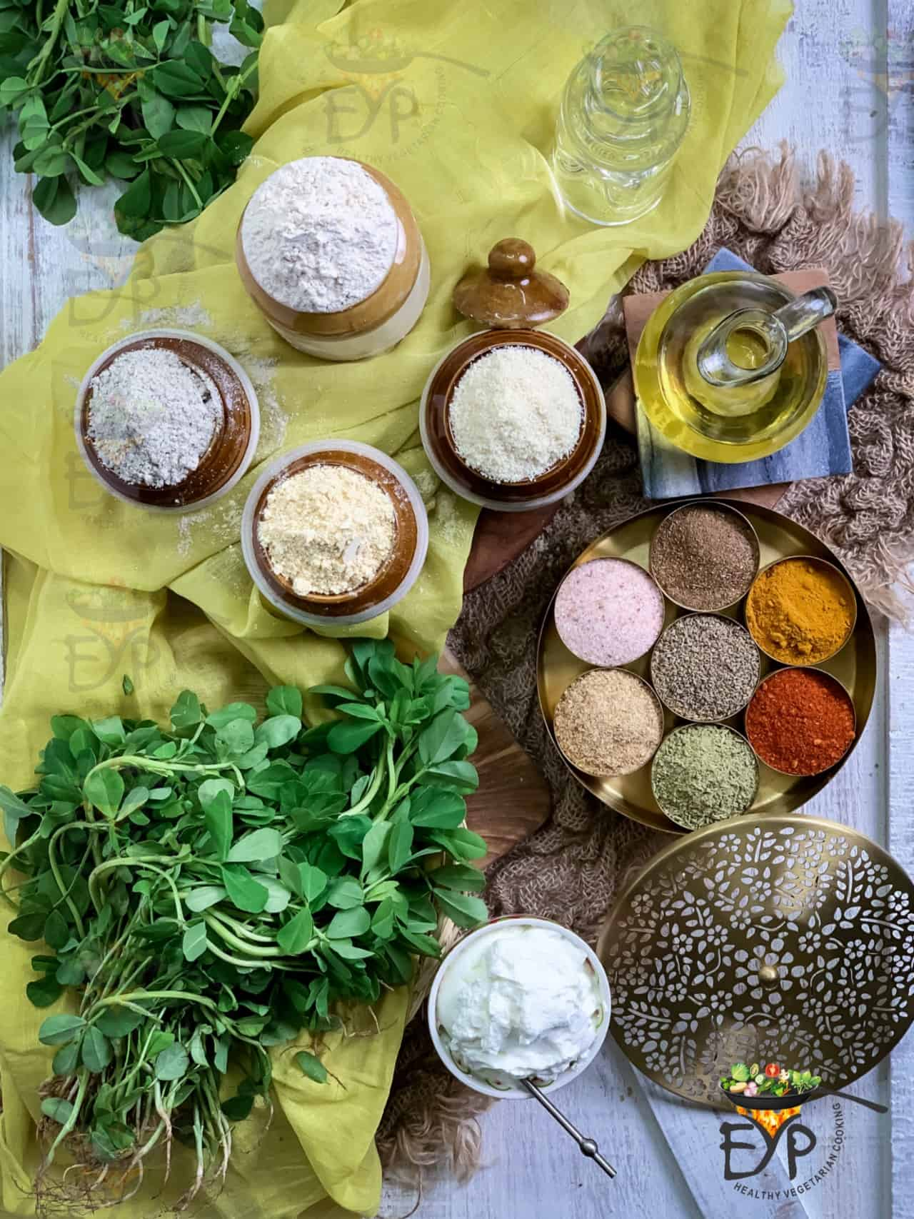 Ingredients for dal-dhokli