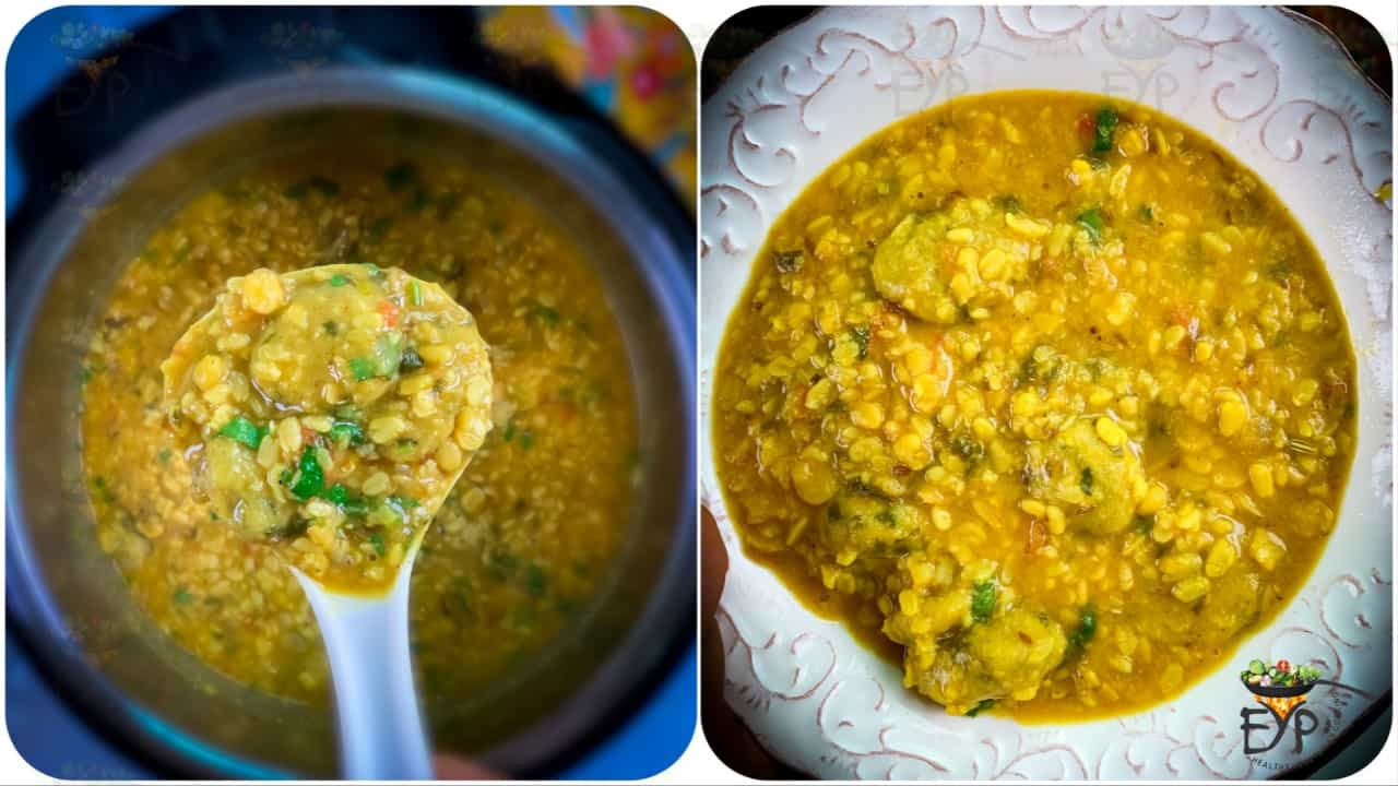 Dal Dhokli ready to be served