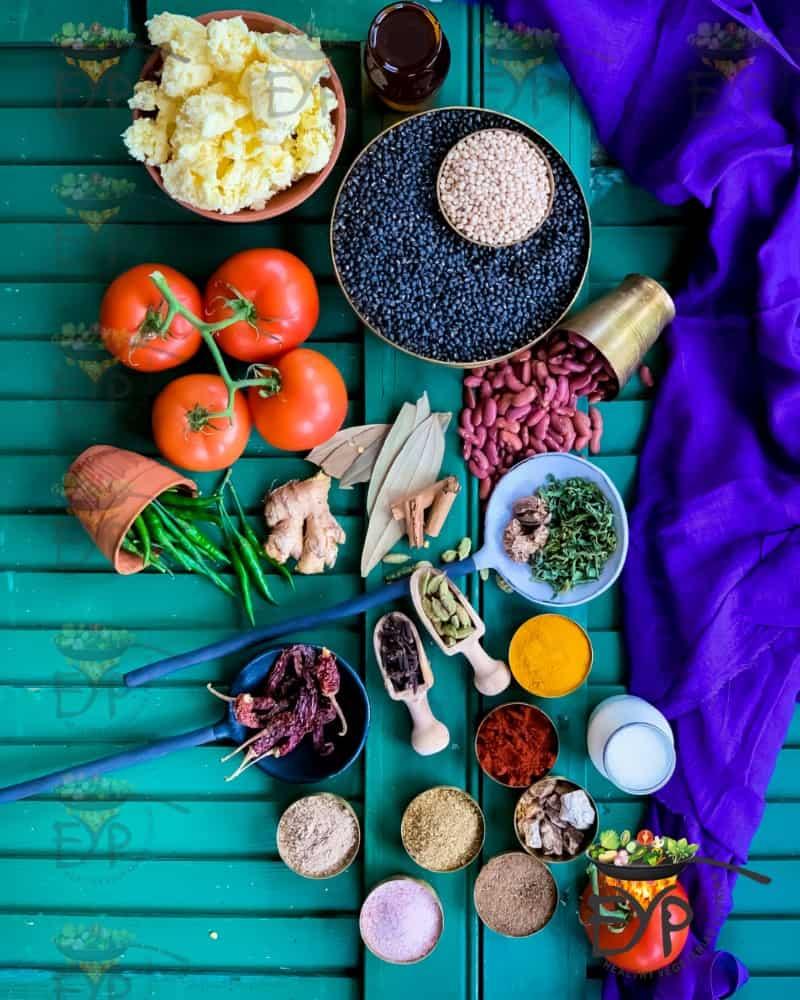 Dal-Makhani Ingredients