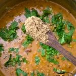 cilantro and dry mango powder