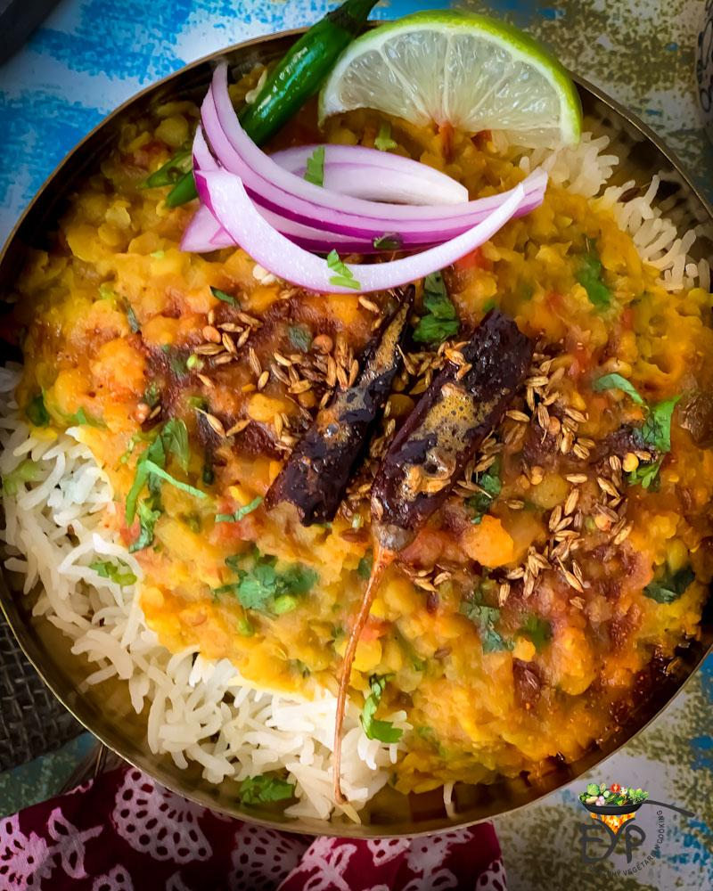 Dal Tadka served over rice