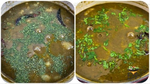 after kasoori methi to spicy potato curry
