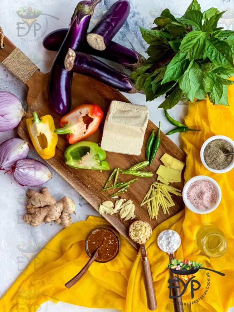 Thai Eggplant Stir-Fry Ingredients