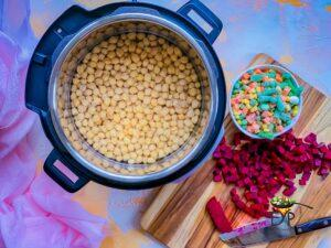 Soaked chickpeas in pressure cooker