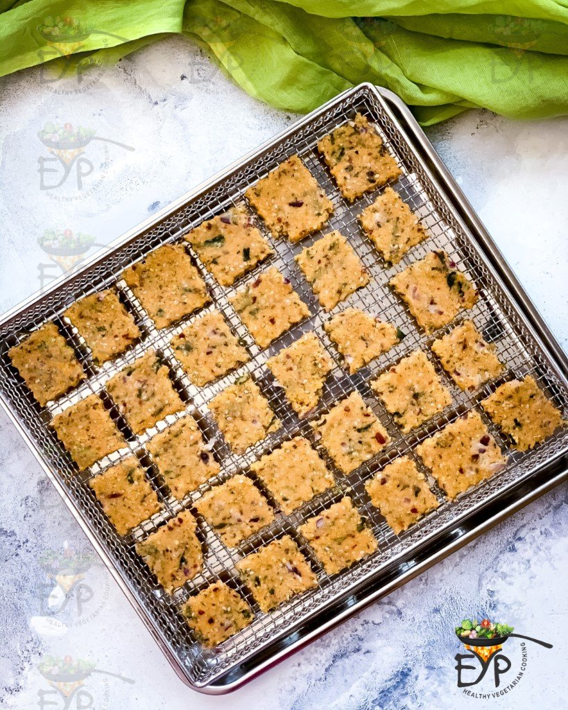 gluten free crackers after baking from both sides
